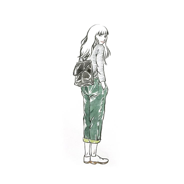 Street fashion Tawain/girl illustration by Sookie Shen