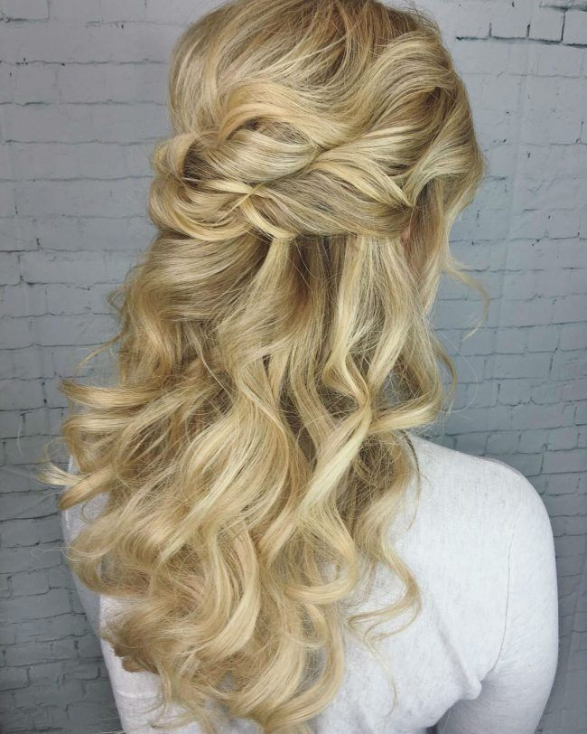Best 25 Vintage Wedding Hairstyles Ideas On Pinterest: Best 25+ Half Up Curls Ideas On Pinterest