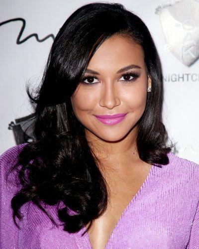 SantanaBright Makeup, Lipsticks Shades, Fuchsia Lipsticks, Black Hair, Purple Lipstick, Nayarivera, Naya Rivera, Lavender Lipsticks, Lips Colors