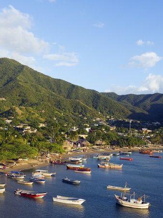 Taganga, Caribbean Coast, Colombia, South America Impressão fotográfica por Christian Kober na AllPosters.com.br