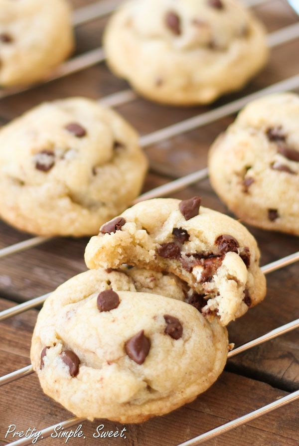 I made these, and they were gone in 48 hours! Ridiculously good, yet so easy. Vanilla Pudding Chocolate Chip Cookies