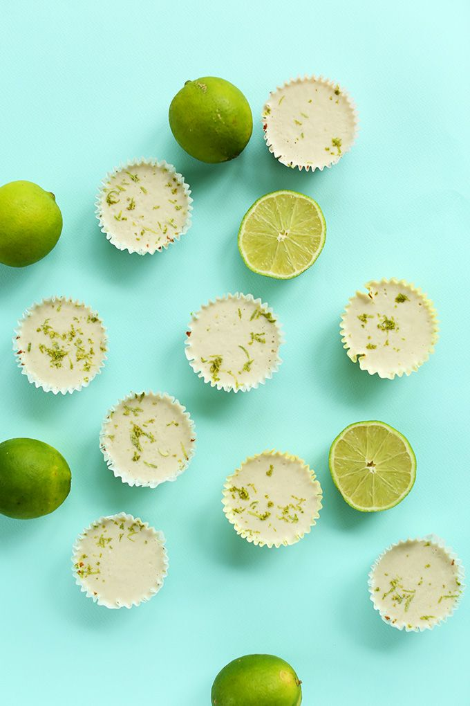 Mini Vegan Key Lime Pies! 7 ingredients and no fuss!