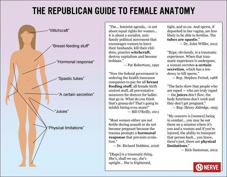 The USA Republican Guide to Female Anatomy - only partially humorous but mostly terrifying that these men believe and have made these statements and have wives, daughters, sisters and of course mothers
