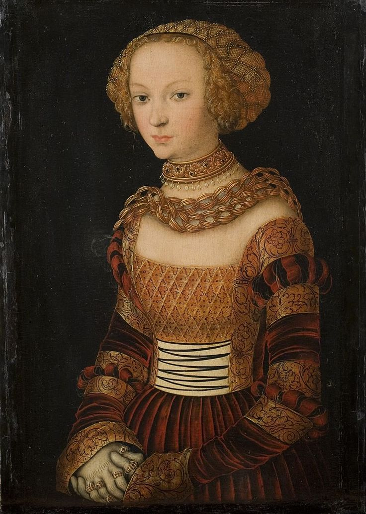 Lucas Cranach the Elder (German, 1472-1553) - Portrait of a Young Woman (Princess Emilia of Saxony?), 1537