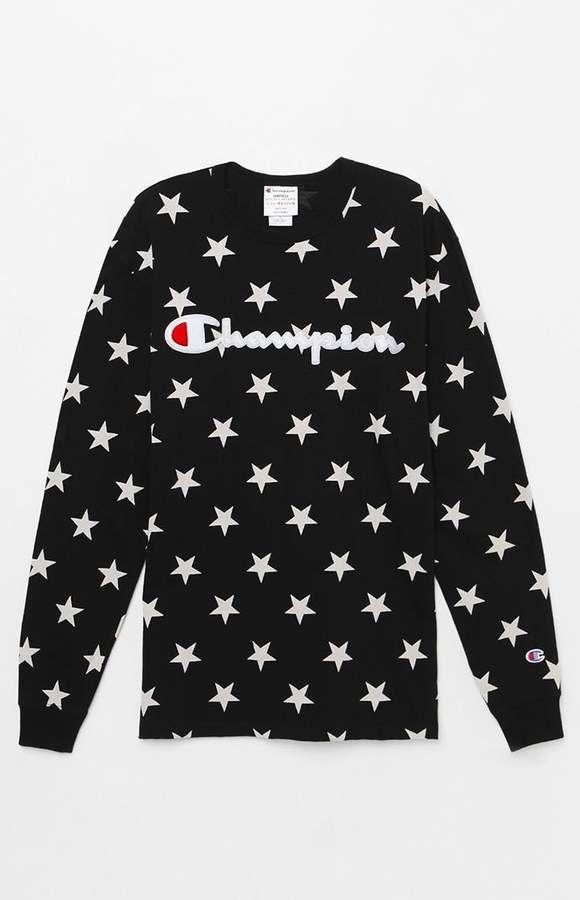 59c44f7a8 Champion Stars Align Long Sleeve T-Shirt | Products | T shirt ...