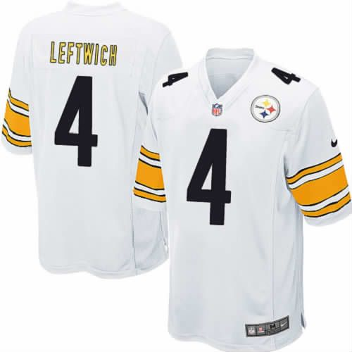 Elite Byron Leftwich Pittsburgh Steelers White Youth Jersey #4 Nike NFL Jersey Sale