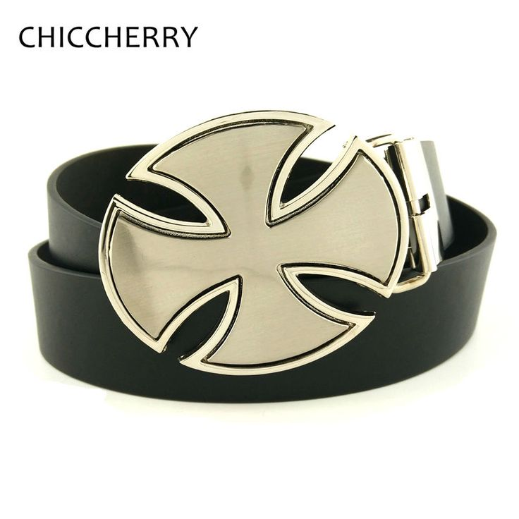 Fashion Cool Mens German Iron Cross Metal Buckle Belts Accessories Strap Male Gift Belt Buckles Fivela De Cinto For Men Jeans