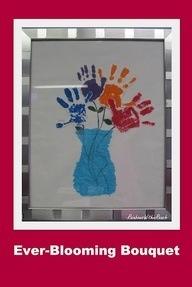 Handprint Flower Vase