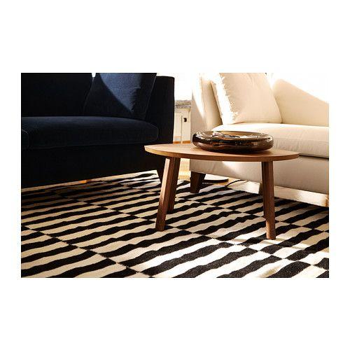 STOCKHOLM Matto, kudottu - 170x240 cm, raidallinen musta/luonnonvalkoinen - IKEA