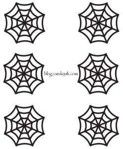 Outline for Spider Web Cupcake Toppers by @MissCandiQuik