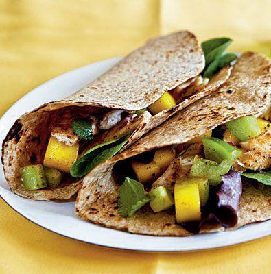 Blackened Catfish Taco with Mango Chutney and Cilantro Black Beans ...