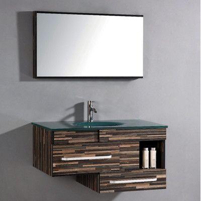 "Legion Furniture 40"" Single Bathroom Vanity Set with Mirror"