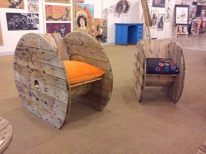 Avec ce fauteuil touret de créateur épatez votre entourage et rompez avec la déco conventionnelle ; 100 % Upcycling. Rien ne se créé, tout se transforme !