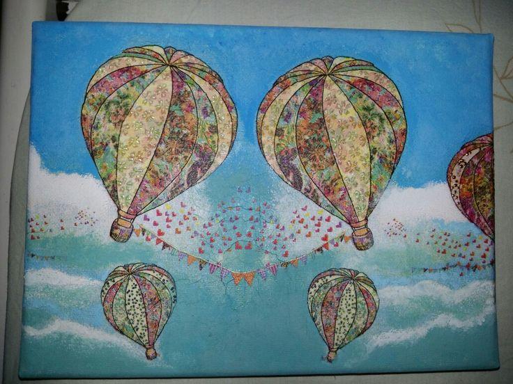 """""""Hot airballoon"""" decoupage"""