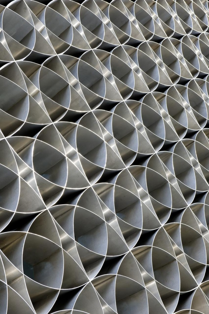 Metal screen at the BMCE Bank in Morocco, by Foster + Partners