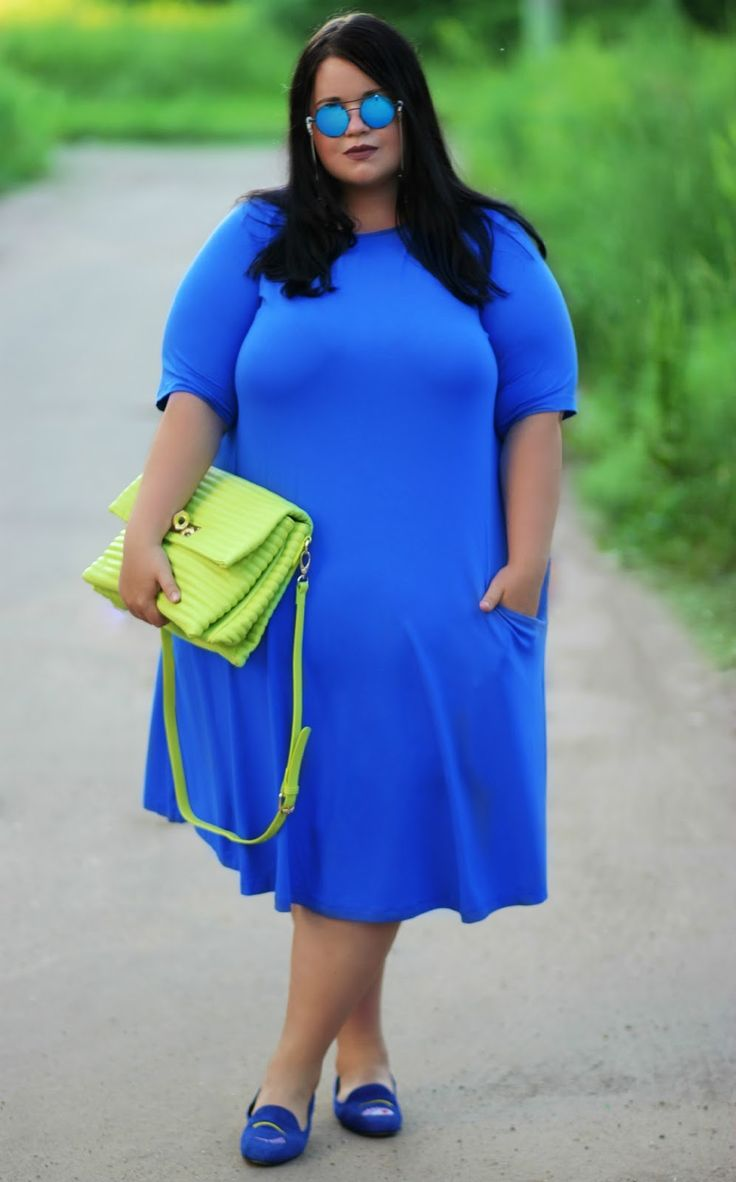 Russian Plus-size Girls: Electric Blue with Lime
