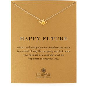 Dogeared Happy Future Gold-Dipped Pendant Necklace