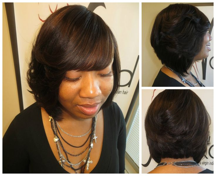 Black Hair Weave Bob Styles: Quick Weave Style Without Glue