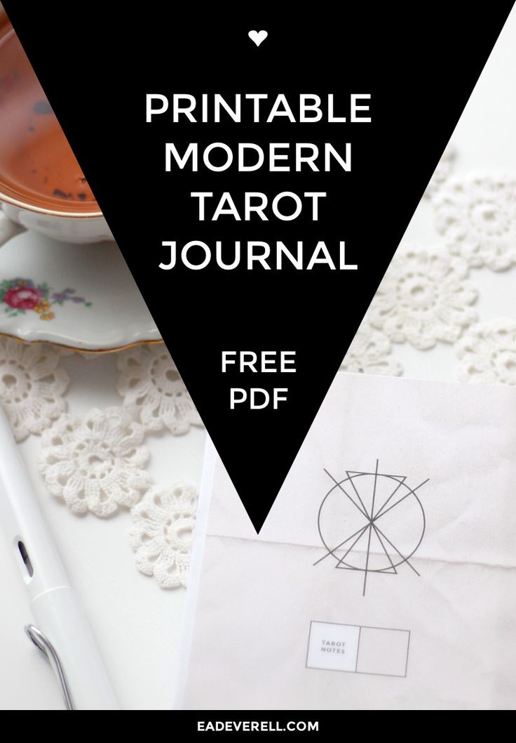 Free Printable Tarot Journal - geometric modern Tarot journal with a page for each card. You can use this to note down keywords and the personal meanings that the Major and Minor Arcana manifest in your life.