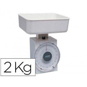 Bascula pesacartas de oficina de hasta 2 kg., graduación cada 20 gramos. Incluye bandeja para el peso de los artículos de 1000 ml de capacidad.