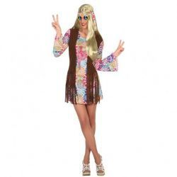 Disfraz Hippie psicodélico para Mujer