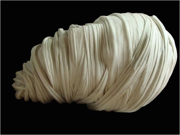 Igor Mitoraj, Testa bendata, marmo, 129.5 x 99.1 x 81.3 cm