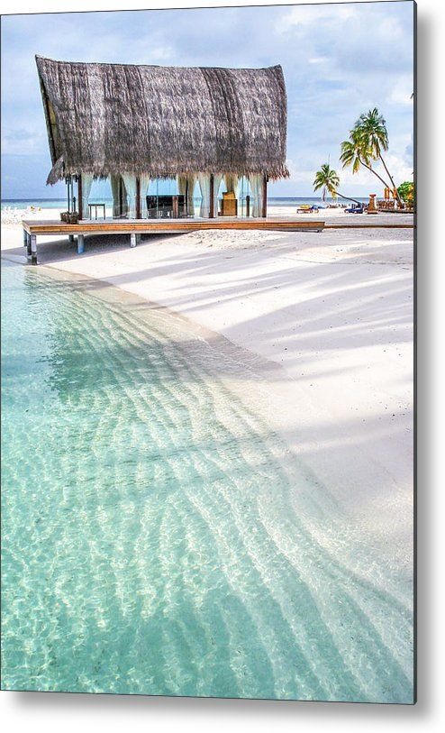 Early Morning At The Maldivian Resort 1 Metal Print by Jenny Rainbow.  All metal prints are professionally printed, packaged, and shipped within 3 - 4 business days and delivered ready-to-hang on your wall. Choose from multiple sizes and mounting options.