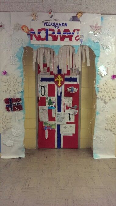 Classroom Decoration Middle ~ Norway door decoration classroom ideas pinterest