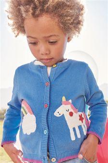 Crochet Knit Unicorn Cardigan (3mths-6yrs)