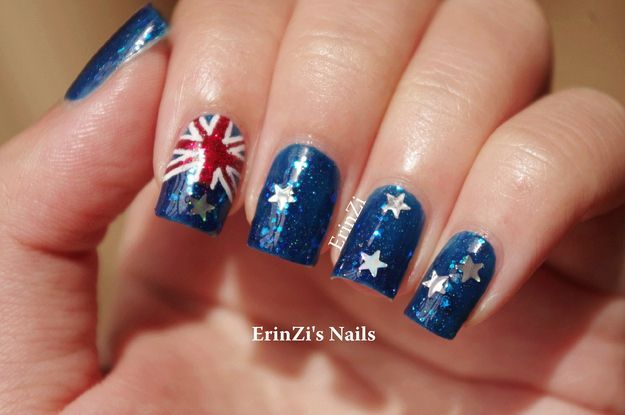 The Glam Flag   27 Awesome Nail Art Designs For Australia Day