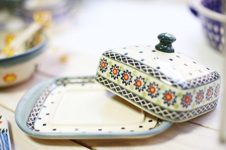 Масленка Art Lawn. #посударучнойработы #керамикаручнойработы #посуда #ceramics #pottery #polishpottery  ceramic tableware | pottery | polish pottery | boleslawiec | посуда | керамическая посуда | польская керамика  | польская посуда | болеславская керамика | керамика