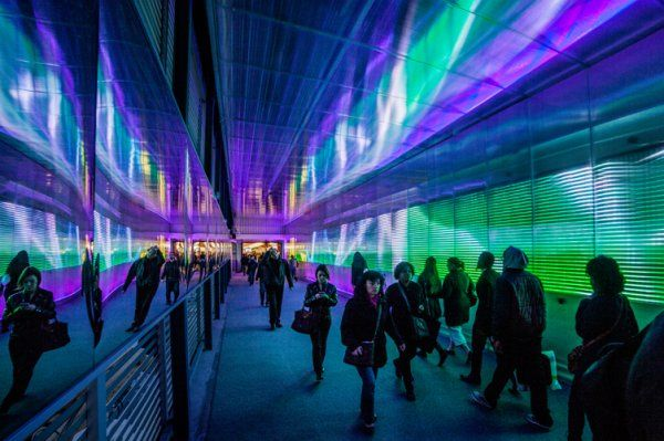 La traversée des Pixels - Attracteurs Etranges,2012, Forum des Halles, Paris, France.