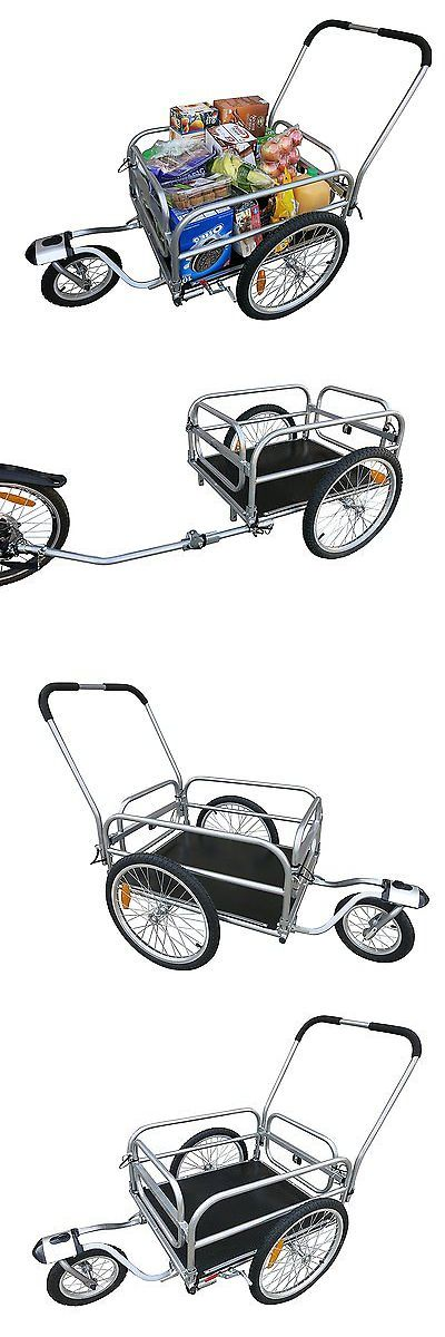 Trailers 85040: 20 Wheels Cargo Utility Stroller And Bicycle Bike Trailer Silver Chrome BUY IT NOW ONLY: $200.12