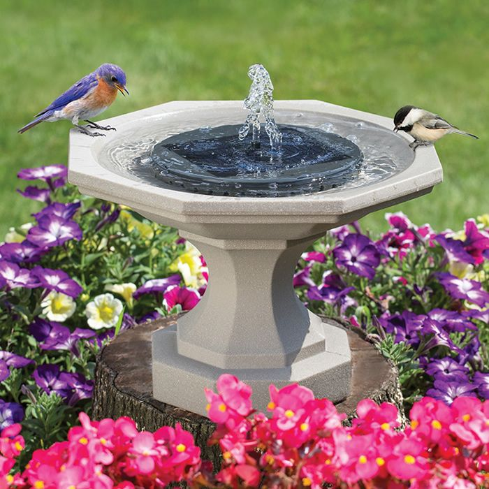 Solar LED Floating Bird Bath Water Fountain Pump Garden Pond Pool Outdoor Kit US