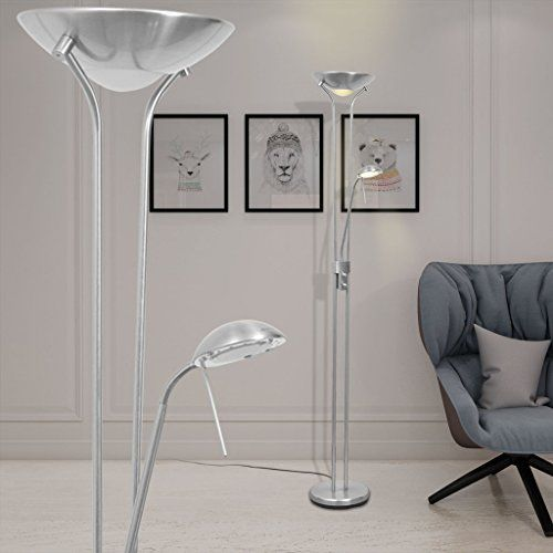 vidaXL LED 23W Stehlampe Deckenfluter Lese Stand L