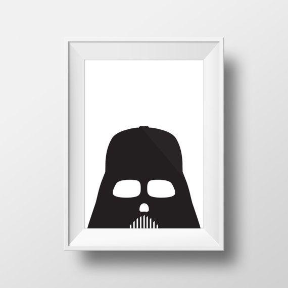 Darth Vader, Star Wars Poster, Darth Vader Helmet, Star Wars Art, Darth Vader Decal, Star Wars Decal, Darth Vader Mask, Star Wars Print