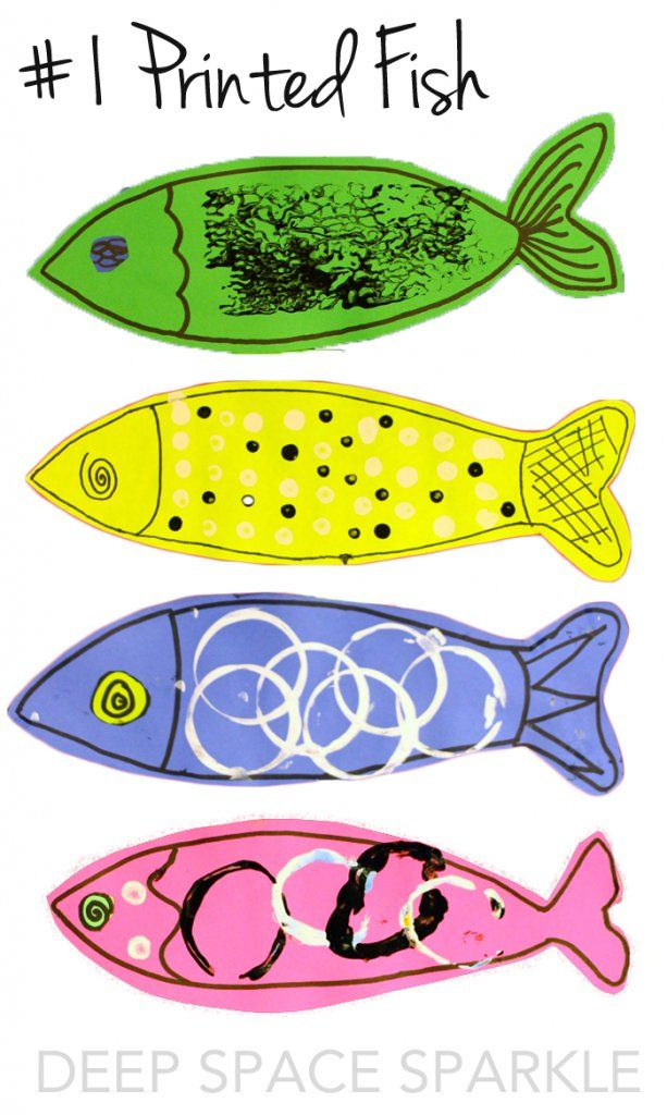 Printed Fish Art Project: The years best art projects for 2014-15 from Deep Space Sparkle