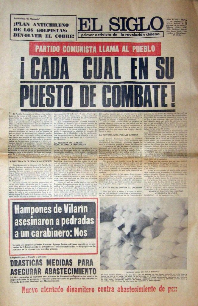 El Siglo llama a ocupar puestos de combate » Museo de prensa