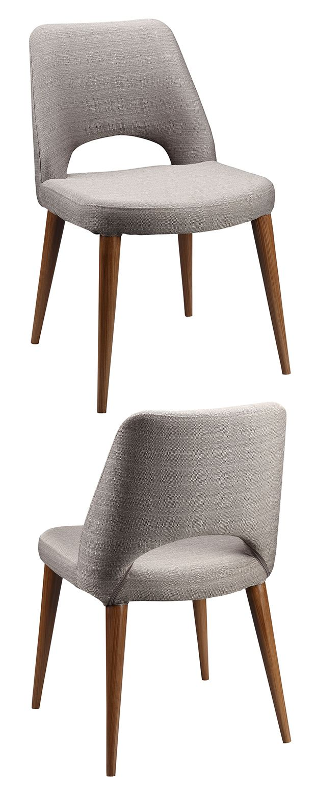 It's hard to resist a sharp silhouette like this one. Upholstered in sharkskin-gray fabric and perched upon sleek tapered legs, our mid-century Townsend Chair is equally suited to the boardroom and the... Find the Townsend Chair - Set of 2, as seen in the Vintage Meets Modern at the Graduate Hotel Collection at http://dotandbo.com/collections/vintage-meets-modern-at-the-graduate-hotel?utm_source=pinterest&utm_medium=organic&db_sku=117579