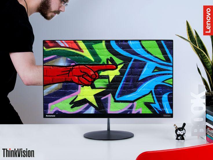 Non limitarti a pensare fuori dagli schemi: sbarazzatene completamente, con il display senza bordi del ThinkVision X24! Il prezzo? 289€ IVA compresa!