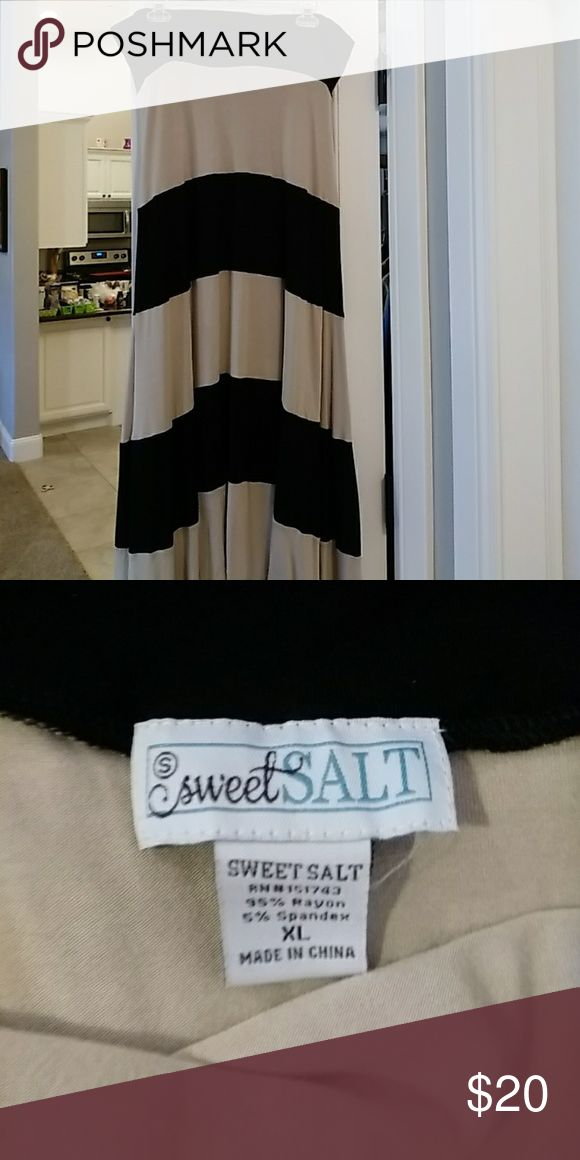Black and tan Maxi skirt Nwot Skirts Maxi