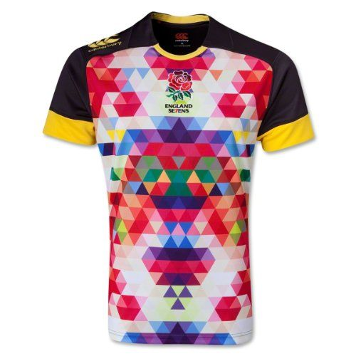 England Sevens 13/14 Alt Pro Rugby Jersey England 7's Alt Pro Jersey.. Get the gear that shows who you support in this great game!. These shirts will be worn for the first time at the Marriott London Sevens, the last tournament of the 2012 13 IRB HSBC Sevens World Series taking place at Twickenham in May.. Both shirts have been created with the English rose at the heart of the design using a pixelated image of the iconic rugby emblem to represent the DNA of the rose.. The alternate shirt…