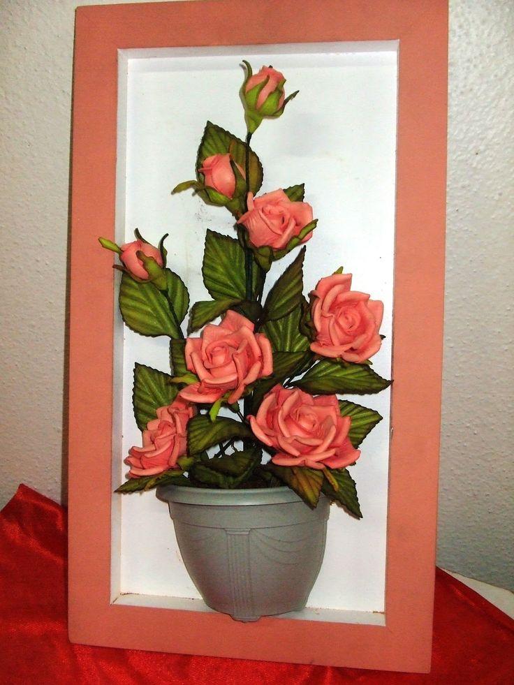 Rosas Vermelhas, lindas como sempre, sua sala ficará muito mais linda com este lindo quadro!      O que falar do Copo de Leite??, Fica ai...