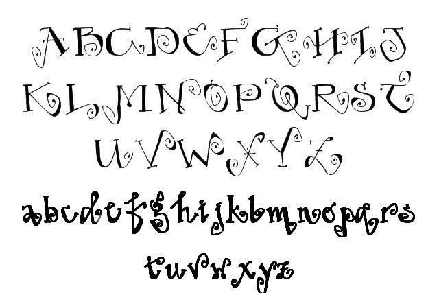 Cool fonts alphabet lower case and letters