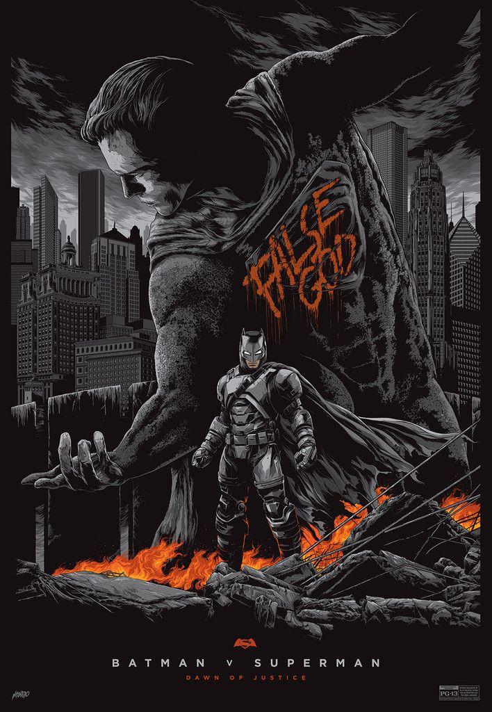Check Out These Great BATMAN V SUPERMAN: DAWN OF JUSTICE Mondo Posters From Ken Taylor