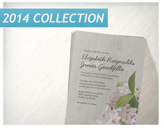 Vintage Phalaenopsis Orchid Wedding Invitations