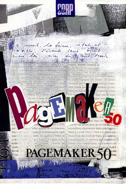 by Argiro Stavrakou- Pagemaker Software Ad & Cover, Year 1993