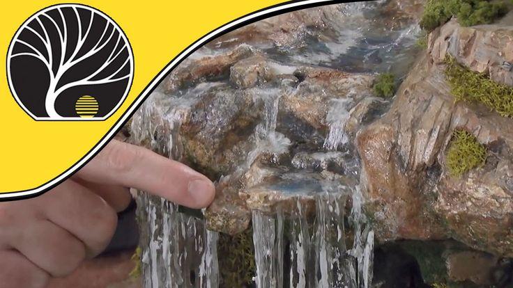 Model Waterfalls and Rapids - Model Scenery | Woodland Scenics - YouTube