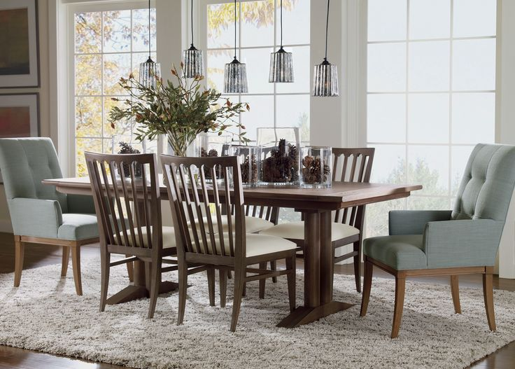 Keep Your Dining Room Open And Bright With This Beautiful Sayer Collection.  #EthanAllen #  Ethan Allen Dining Room Chairs