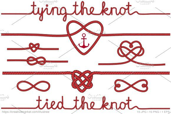 Tying The Knot Red Vector Set
